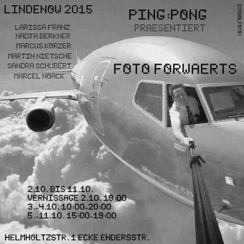 Flyer Ausstellung FotoForwärts zum Lindenow #11 Festival